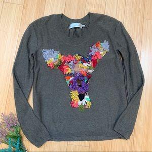 Anthropologie Charlie & Robin deer sweater, S.
